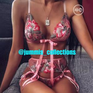 3 Pieces Pink Lingerie Set.   Clothing for sale in Osun State, Ife