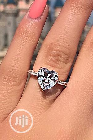Splendid Heart Stone Proposal/Engagement Ring - Silver   Wedding Wear & Accessories for sale in Lagos State, Ojodu