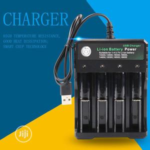 Battery Charger For 3.7V 18650 Battery 4 Port With USB Plug | Accessories & Supplies for Electronics for sale in Lagos State, Surulere