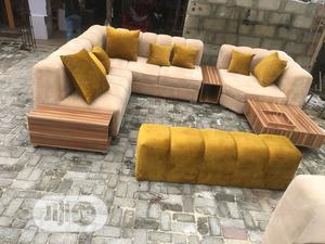 7 Sitter Chair With 2 Side Stools And A Center Table | Furniture for sale in Lagos State, Lekki