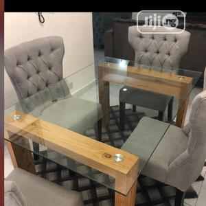 Glass Top Dinning Table With 4 Set of Dinning Chair. | Furniture for sale in Lagos State, Lekki