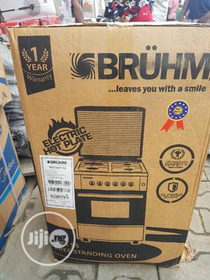 BRUHM 3+1 Standing Cooker 4burne Auto Ignition Oven Grill | Kitchen Appliances for sale in Lagos State, Ojo