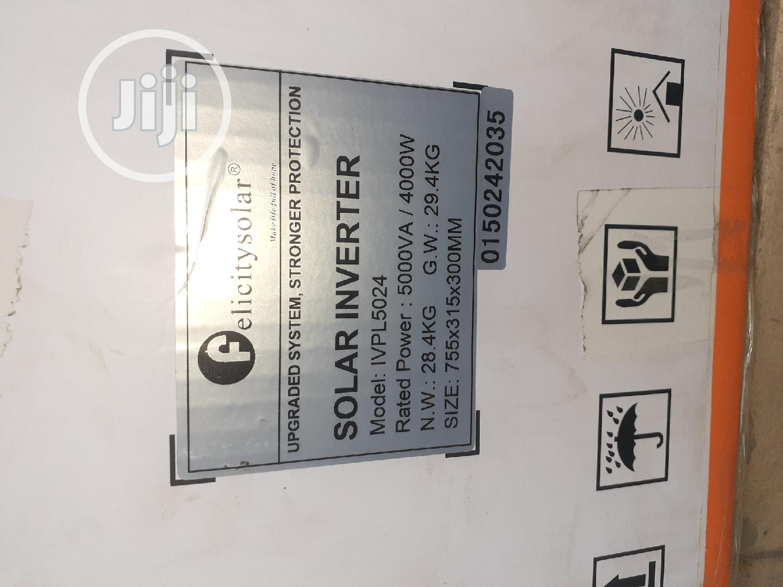 5kva/24v Felicity Inverter   Solar Energy for sale in Ojo, Lagos State, Nigeria