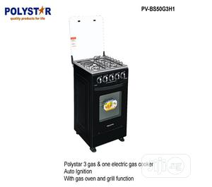 Polystar 3 Gas 1 Electric Gas Cooker Auto Ignation + Grill | Kitchen Appliances for sale in Lagos State, Ikeja