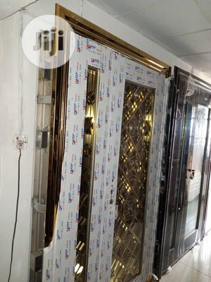 4ft Stainless Door In Door Gold Available | Doors for sale in Lagos State, Orile