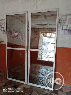 Used Sliding Glass Door. Mirror Type.Blind From Outside View   Doors for sale in Lagos State, Abule Egba