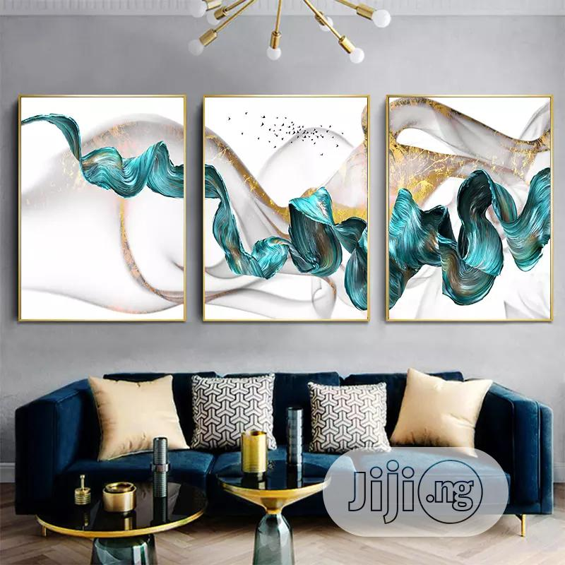 3pices Of Wall Art Picture With Frame | Home Accessories for sale in Lekki, Lagos State, Nigeria