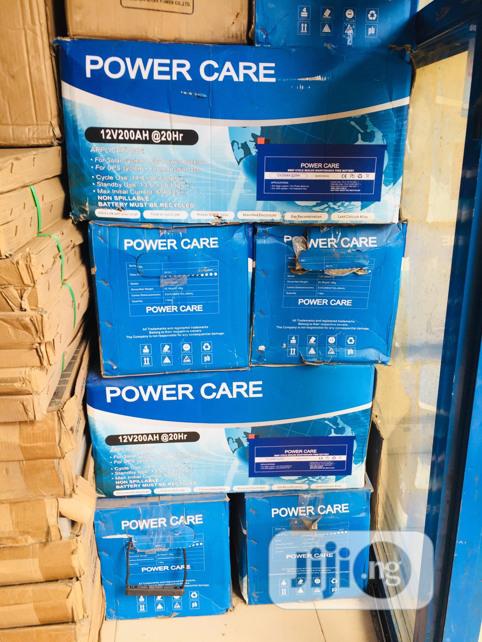 200ah Power Care Solar Battery Available