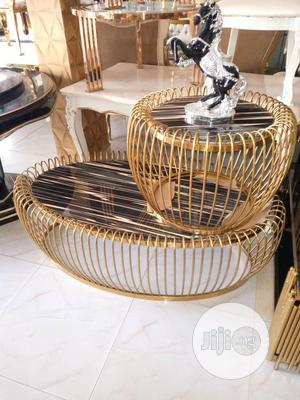 Gold Center Table &Two Side Table | Furniture for sale in Lagos State, Agege