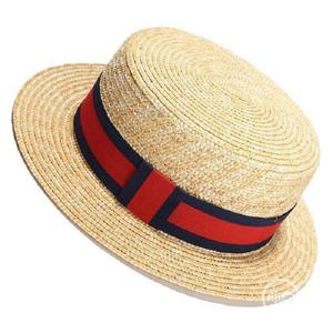 Women Sun Hat Sunmmer Beach New Flat Top Straw Hat Men Boate | Clothing Accessories for sale in Lagos State, Surulere