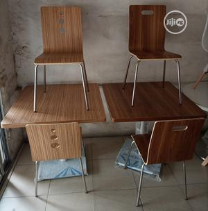 Super Quality Wooden Dinning/Restaurant Table With 4 Chairs   Furniture for sale in Abuja (FCT) State, Utako