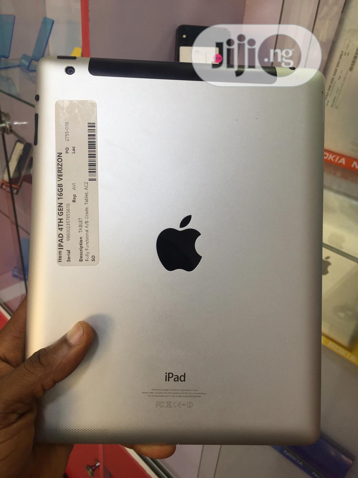 Apple iPad 4 Wi-Fi + Cellular 16 GB Gray   Tablets for sale in Ajah, Lagos State, Nigeria