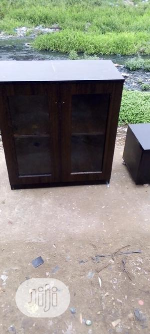 Wooding Cupboard With Tinted Glass | Furniture for sale in Lagos State, Mushin