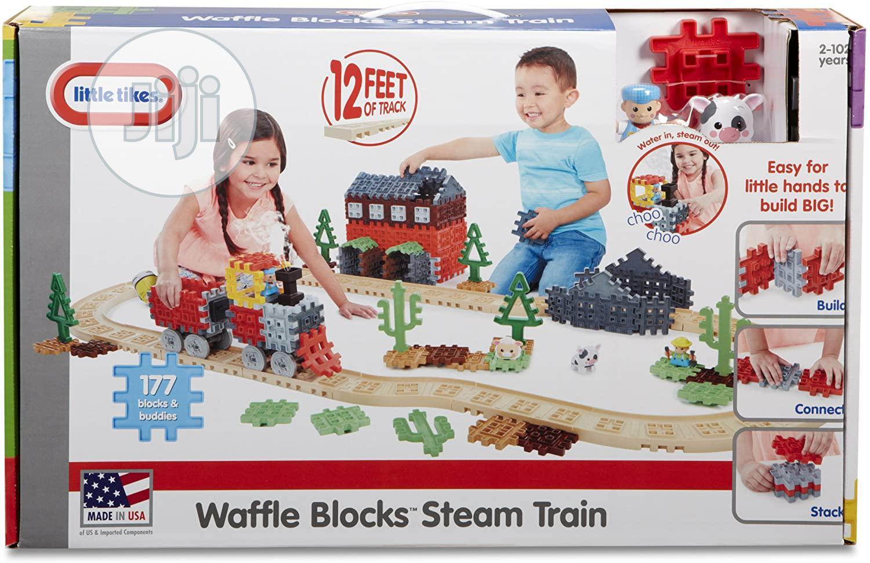 Waffle Blocks Steam Train