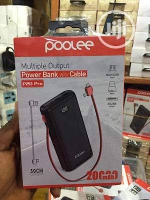 20000mah Poolee Multiple Output Powerbank With Cable | Accessories for Mobile Phones & Tablets for sale in Lagos State, Ikeja