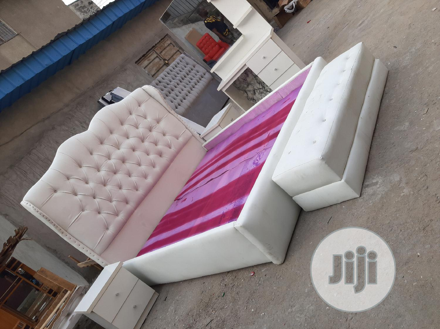 6/6 Upholstery Bed Frame | Furniture for sale in Ojo, Lagos State, Nigeria