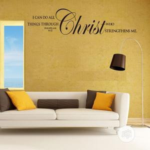 """""""I Can Do All Things"""" Bible Quotes Diy Wall Sticker 