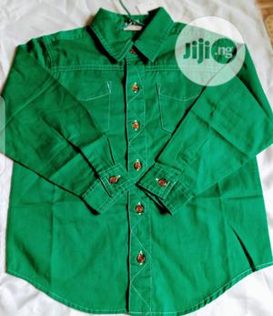 Next Preppy World Famous Boys Shirt- Green   Children's Clothing for sale in Lagos State, Agege