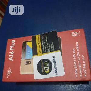 New Itel A16 Plus 8 GB Black   Mobile Phones for sale in Anambra State, Nnewi