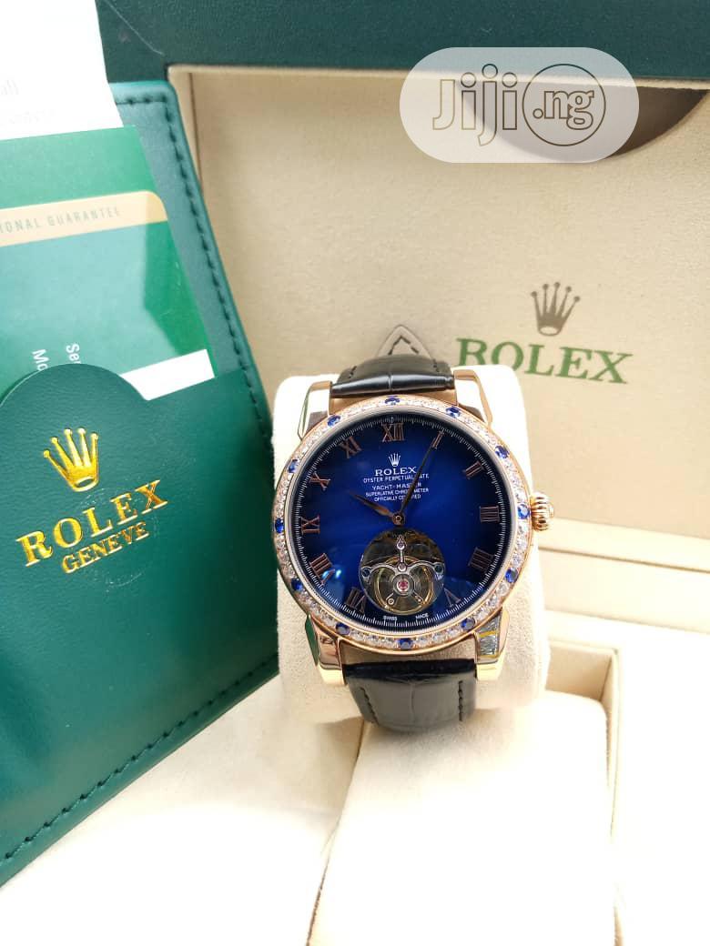 Rolex Genuine Leather Wrist Watch High Quality