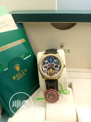 Rolex Genuine Leather Wrist Watch Good Quality Guarrantee | Watches for sale in Lagos State, Lagos Island (Eko)