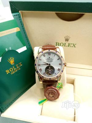 Rolex Leather Wrist Watch High Quality With Guarrantee; | Watches for sale in Lagos State, Lagos Island (Eko)