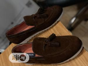 Brown Suede Loafers With Tassel and White Sole | Shoes for sale in Lagos State, Mushin