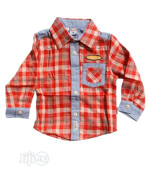 Boys Long Sleeve Shirt-blue And Multi Color | Children's Clothing for sale in Lagos State, Ojota