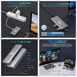 USB Hub Docking Station Type C Adapter USB 3.0 4K HDMI VGA   Computer Accessories  for sale in Lagos State, Alimosho