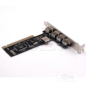 USB 2.0 4 Port VIA HUB PCI Controller Card Adapter PCI Cards   Computer Accessories  for sale in Plateau State, Jos