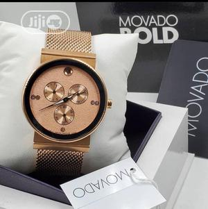 High Quality Movado Stainless Steel Gold & White Dial Watch | Watches for sale in Lagos State, Magodo