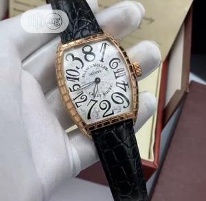 High Quality Franck Muller Black Dial Leather Watch   Watches for sale in Lagos State, Magodo