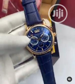 High Quality Patek Philippe Blue Dial Leather Watch   Watches for sale in Lagos State, Magodo