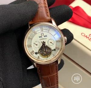 High Quality Omega Roman Dial Leather Watch   Watches for sale in Lagos State, Magodo