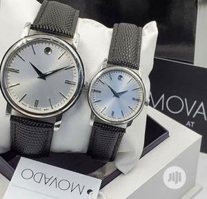 High Quality Movado Silver Dial Leather   Watches for sale in Lagos State, Magodo