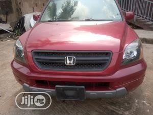Honda Pilot 2004 EX 4x4 (3.5L 6cyl 5A) Red | Cars for sale in Lagos State, Ogba