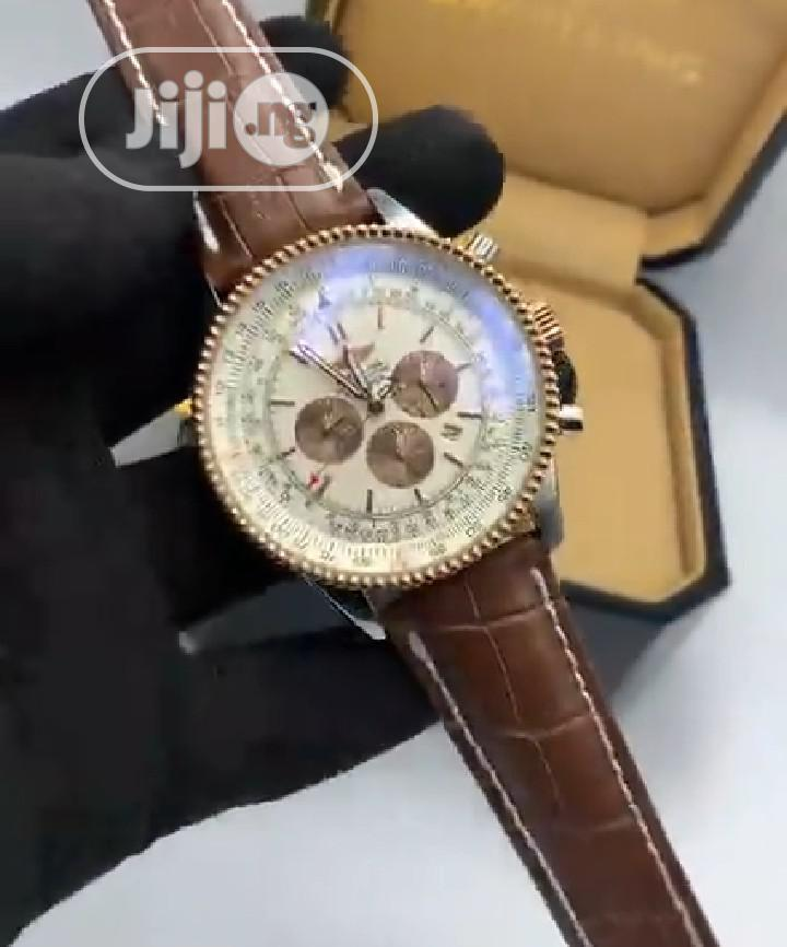 High Quality Breitling Aviation Dial Leather Watch