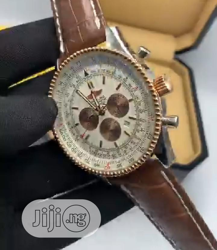 High Quality Breitling Aviation Dial Leather Watch   Watches for sale in Magodo, Lagos State, Nigeria