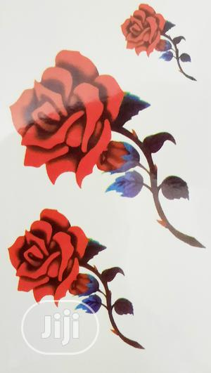 Sexy Red Rose Flower Temporary Tattoo Body Art Sticker | Tools & Accessories for sale in Lagos State, Ojodu
