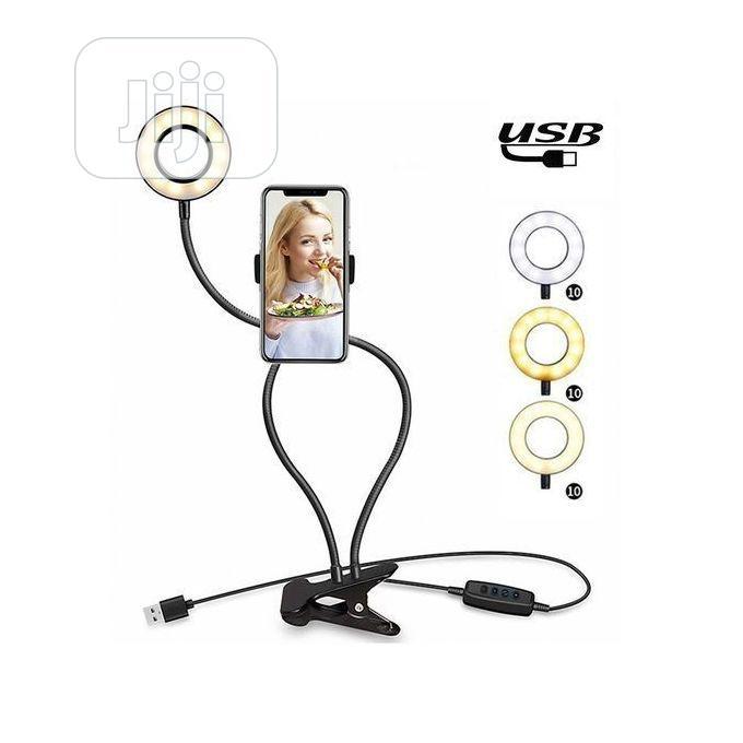 Light LED Selfie Ring Cell Phone Holder Stand