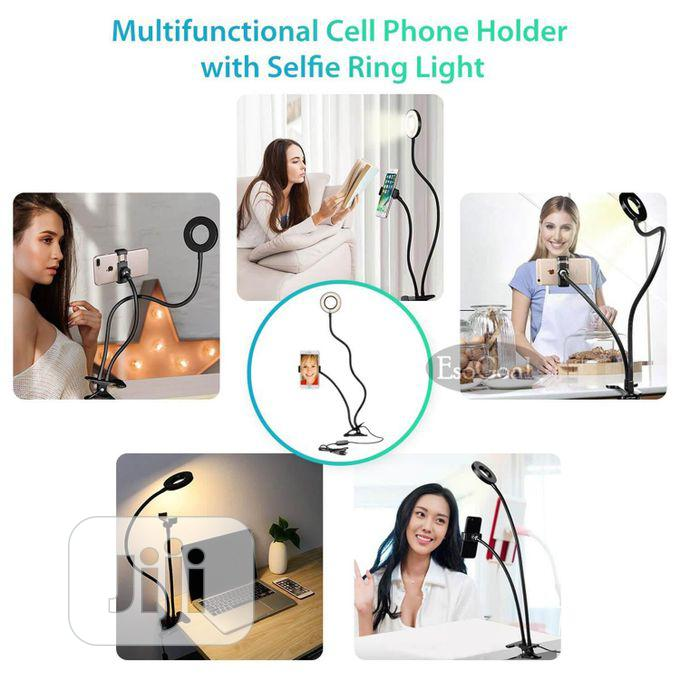 Light LED Selfie Ring Cell Phone Holder Stand   Accessories & Supplies for Electronics for sale in Ikeja, Lagos State, Nigeria