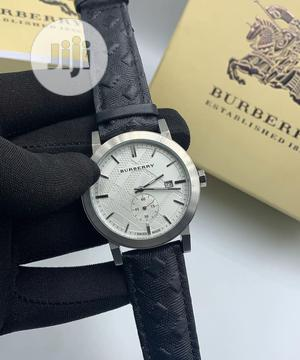 High Quality Burberry Ilver Dial Leather Watch   Watches for sale in Lagos State, Magodo