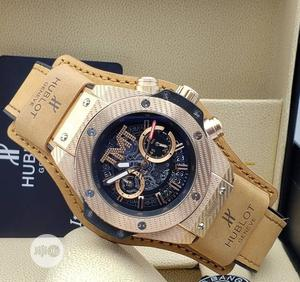 High Quality Hublot TMT Black Dial Leather Watch | Watches for sale in Lagos State, Magodo