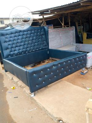 6by6 Bed Made of Stock Leather | Furniture for sale in Lagos State, Ikeja