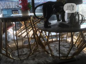 2set Center Table and Side Stool With Marble Top | Furniture for sale in Lagos State, Surulere