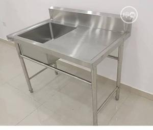 Washing Sink Single With Side | Restaurant & Catering Equipment for sale in Lagos State, Ojo