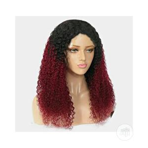 Wine And Black Fancy Baby Curl Wig With Invisible Parting | Hair Beauty for sale in Lagos State, Ajah