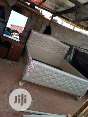 MODERN Upholstered Bed Frame & Dressing Mirror | Furniture for sale in Lagos State, Lekki