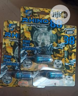Rihno 88 Pills, Delayed Ejaculation Pill (3 Cards) | Vitamins & Supplements for sale in Lagos State, Yaba