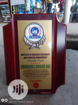 Awards Plaques And Tags   Arts & Crafts for sale in Abuja (FCT) State, Central Business District